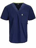 Men's V-Neck Top w/ Antimicrobial + Fluid Barrier