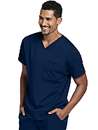 'Spandex Stretch' Mens 3-Pocket Sport V-neck Top
