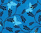 Black Ferns With Butterflies