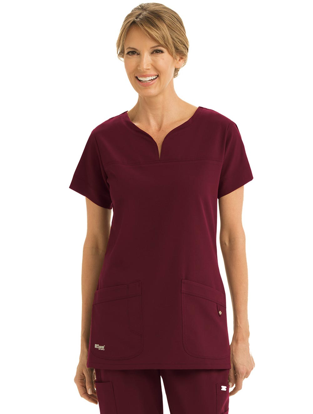 'Grey's Anatomy Signature' 2 Pocket Notch Neck Top