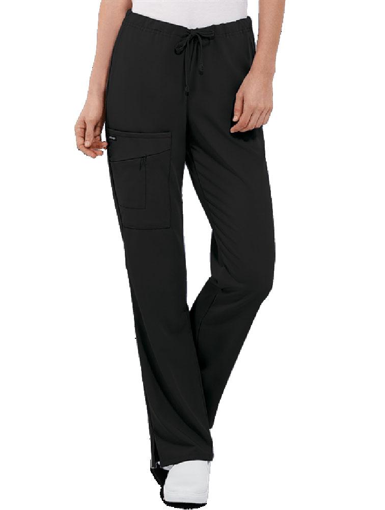 Half Elastic Half Drawstring Zipper Pocket Pant