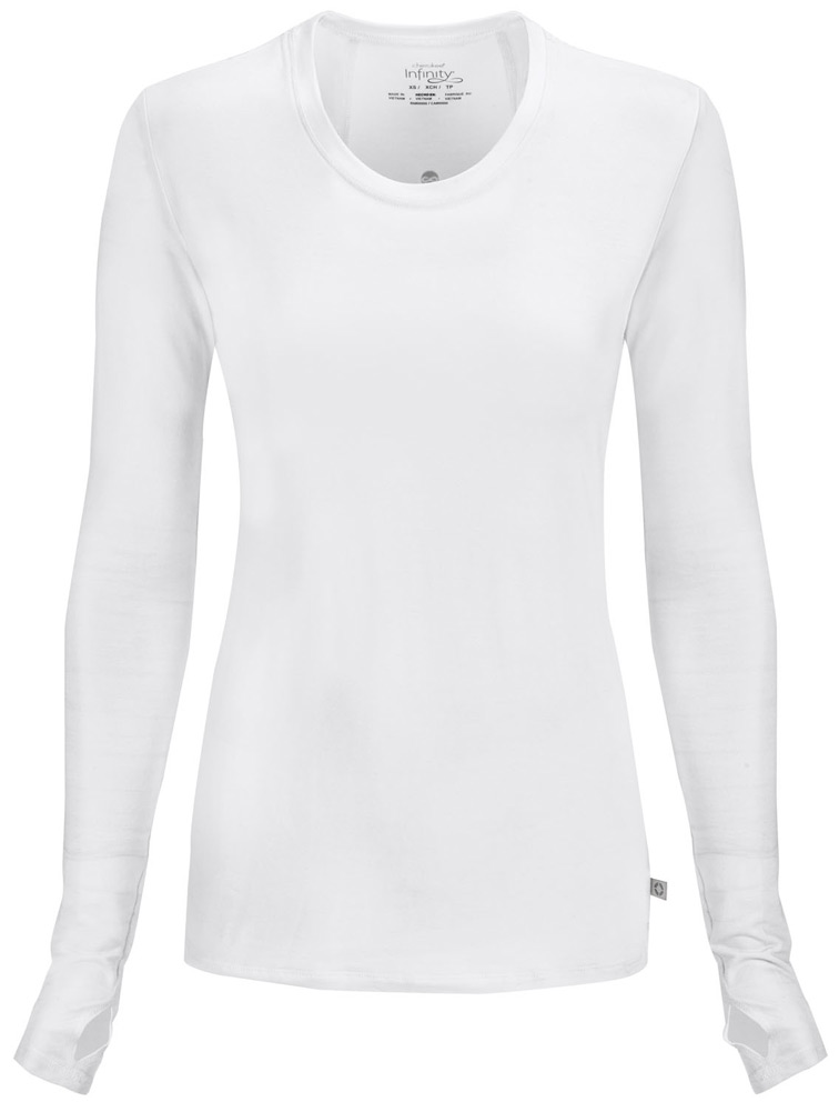 'Infinity' Long Sleeve Knit Underscrub w/ Antimicrobial