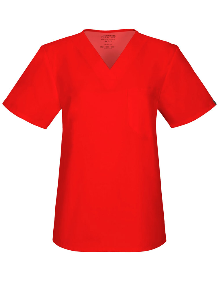 Unisex V-Neck Top w/ Antimicrobial