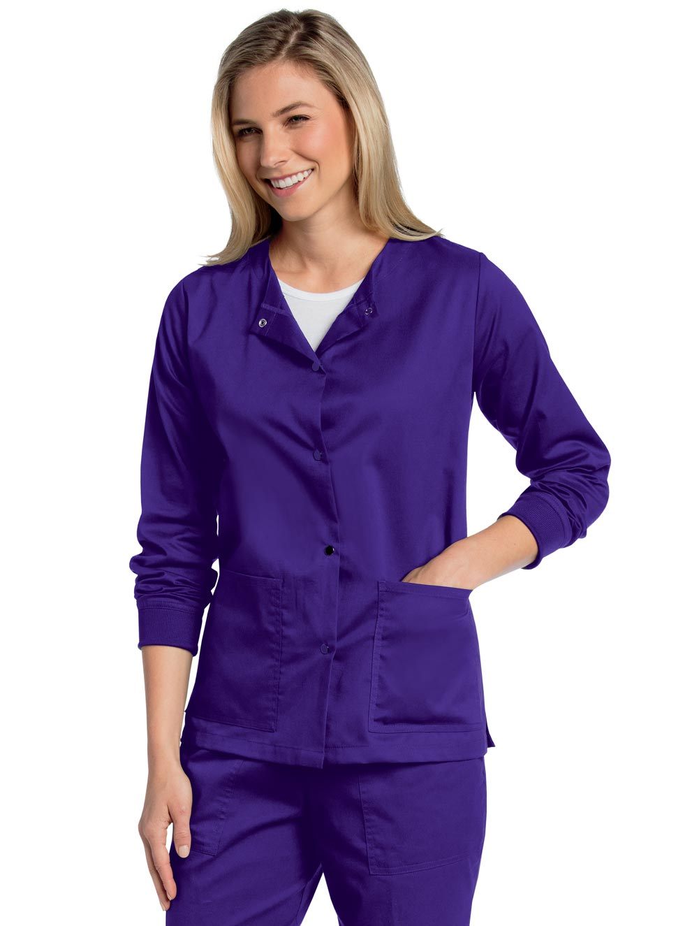 Women's All Day Snap Front Warm Up Scrub Jacket