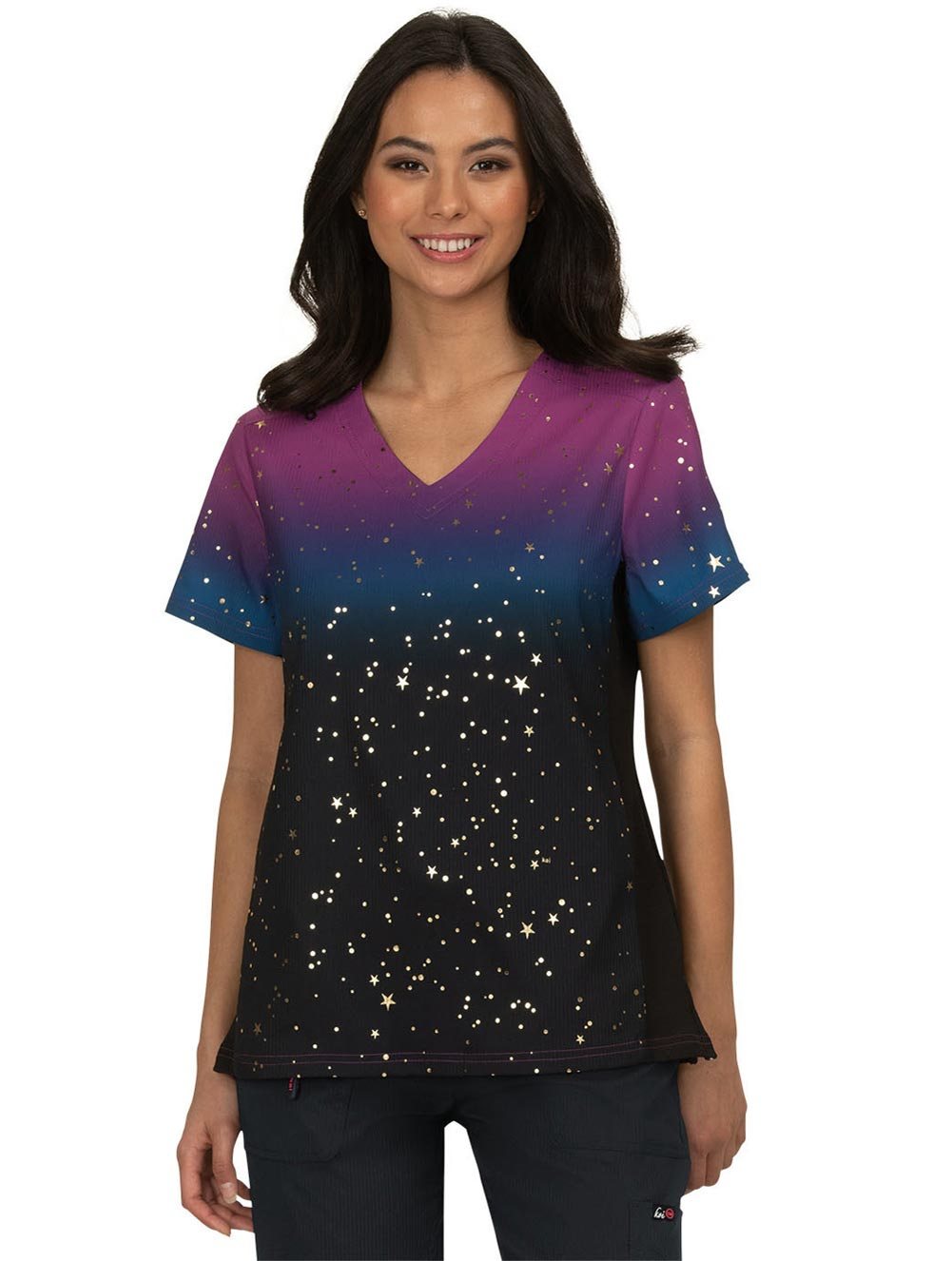 'Reform' Foiled Ombre Top