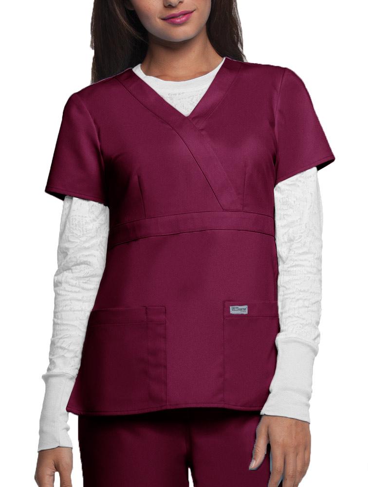 Grey's Anatomy™ 3-Pocket Mock Wrap Top