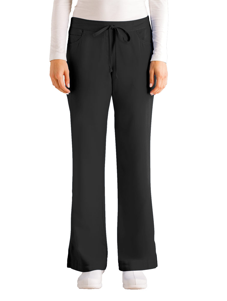 Ladies' 5-Pocket Drawstring Elastic Pant