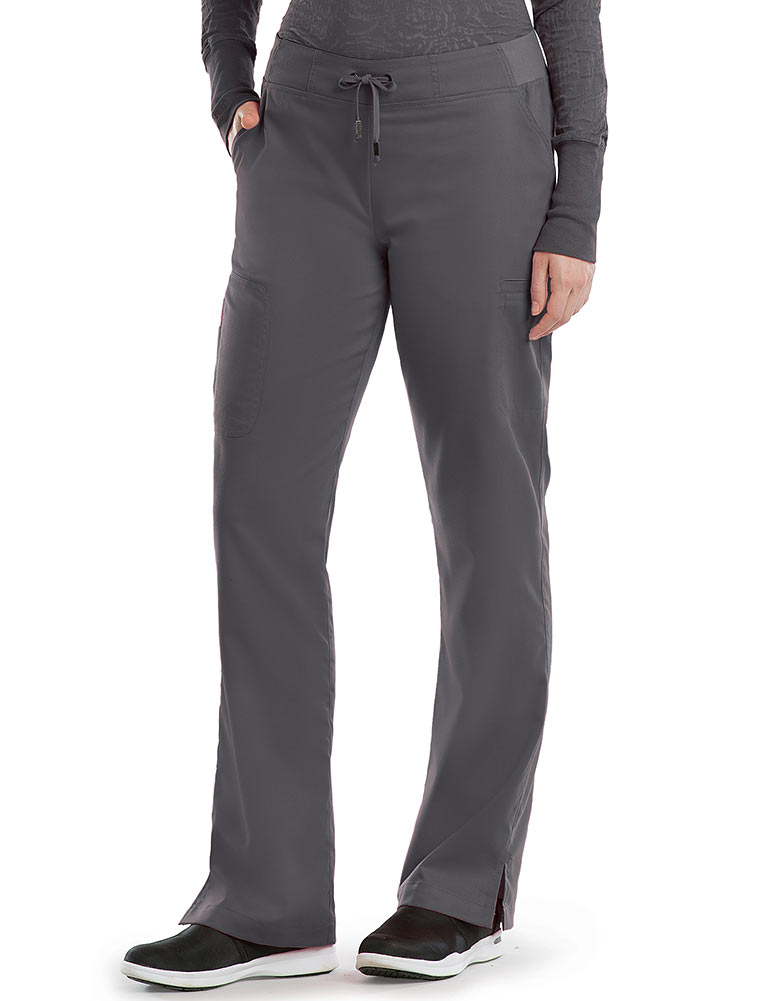 'Grey's Anatomy' Straight Leg 3-Pocket Tie-Front Pant