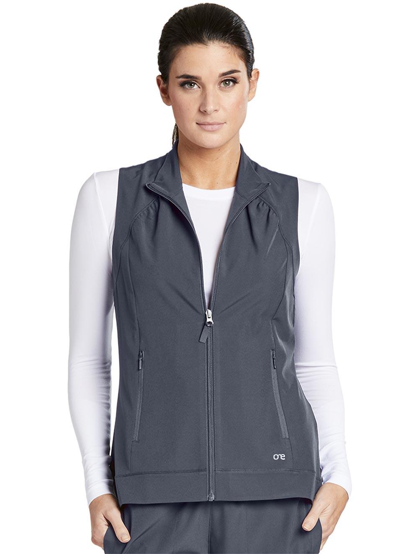 'Barco One' 2 Pocket Shirred Princess Zip Vest