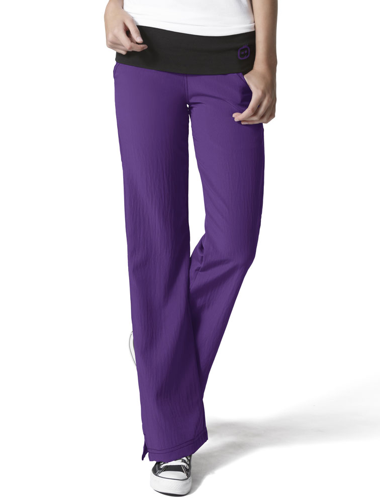 '4-Stretch' Fold Over Knit Waist Pant