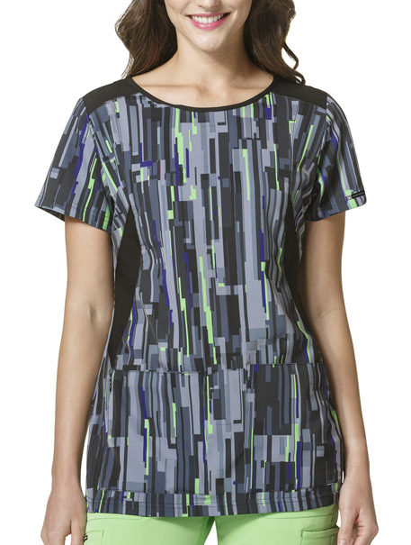 High Performance Boat Neck Print Top