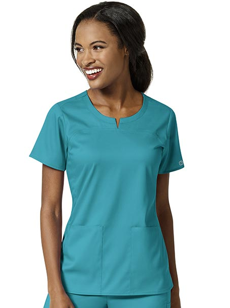 Women's 4 Pocket Notch Top