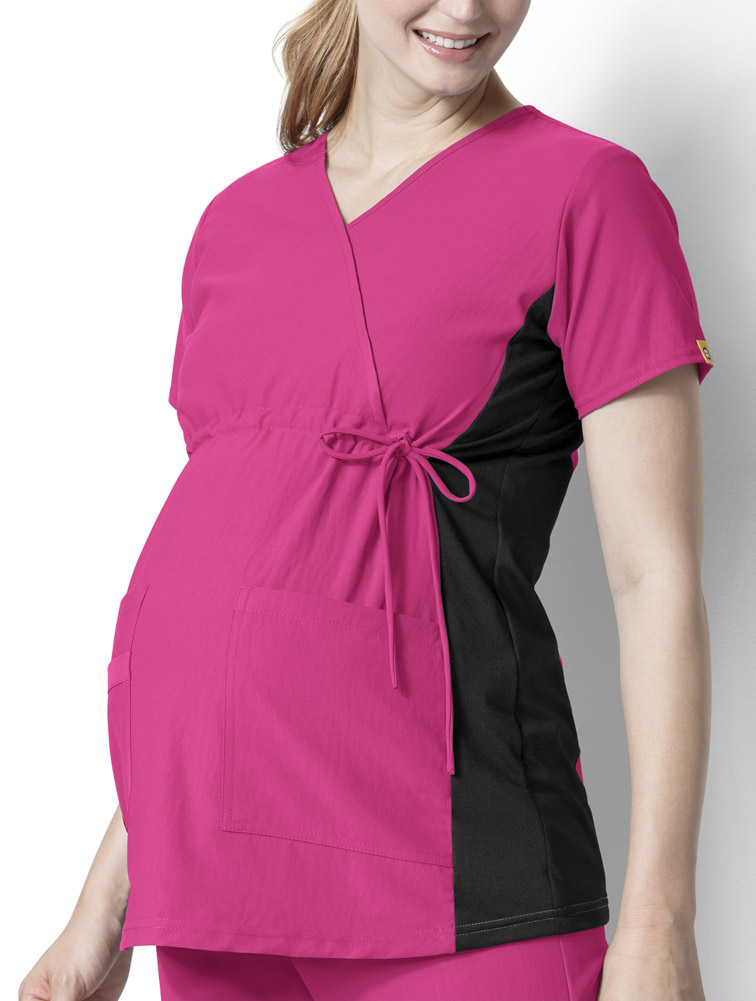 Maternity Mock Wrap Top