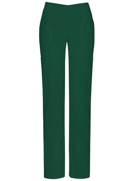 Mid-Rise Moderate Flare Leg Pull-on Pant w/ Antimicrobial
