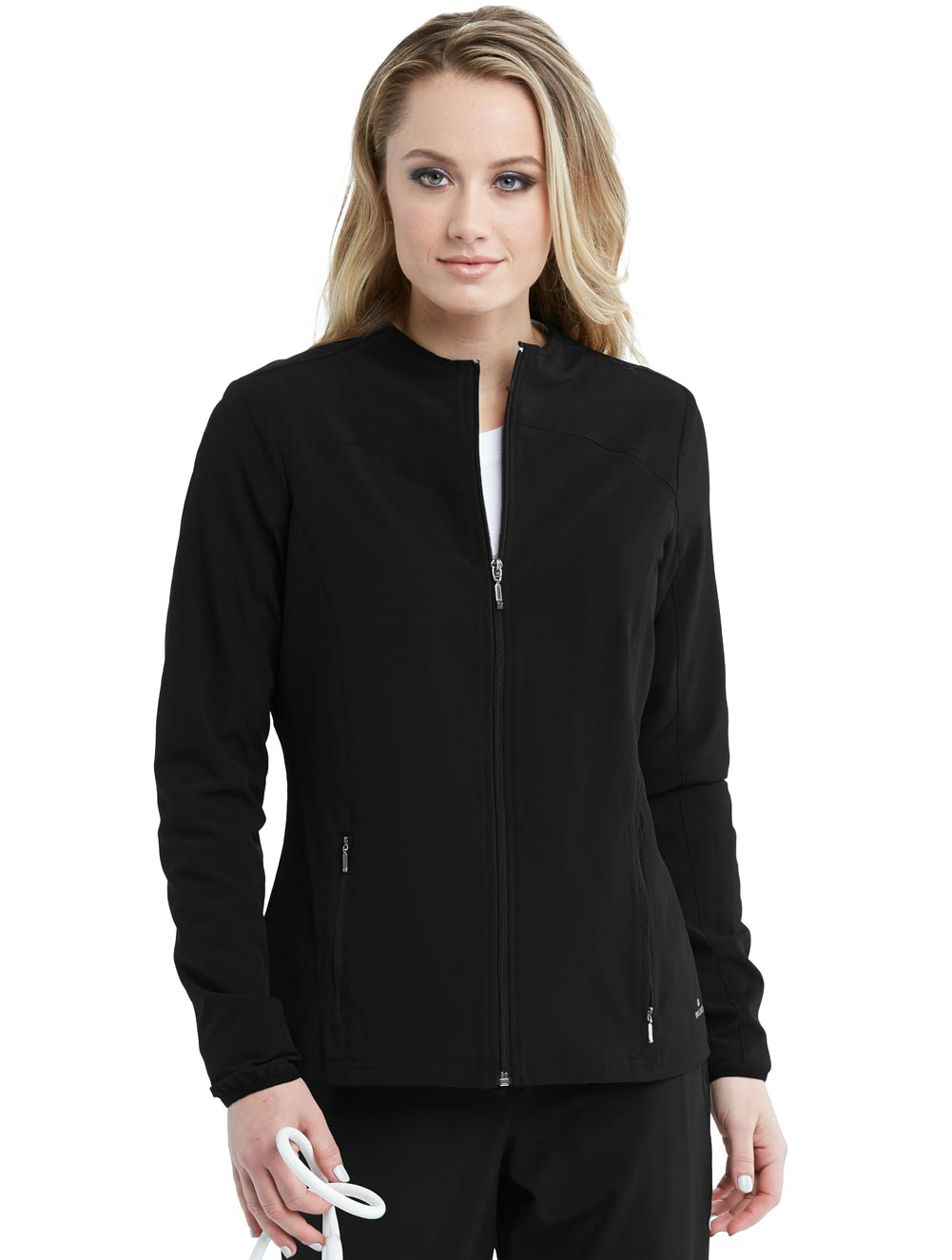 'Barco One' Women's 2 Pocket Zip Front Warmup Scrub Jacket