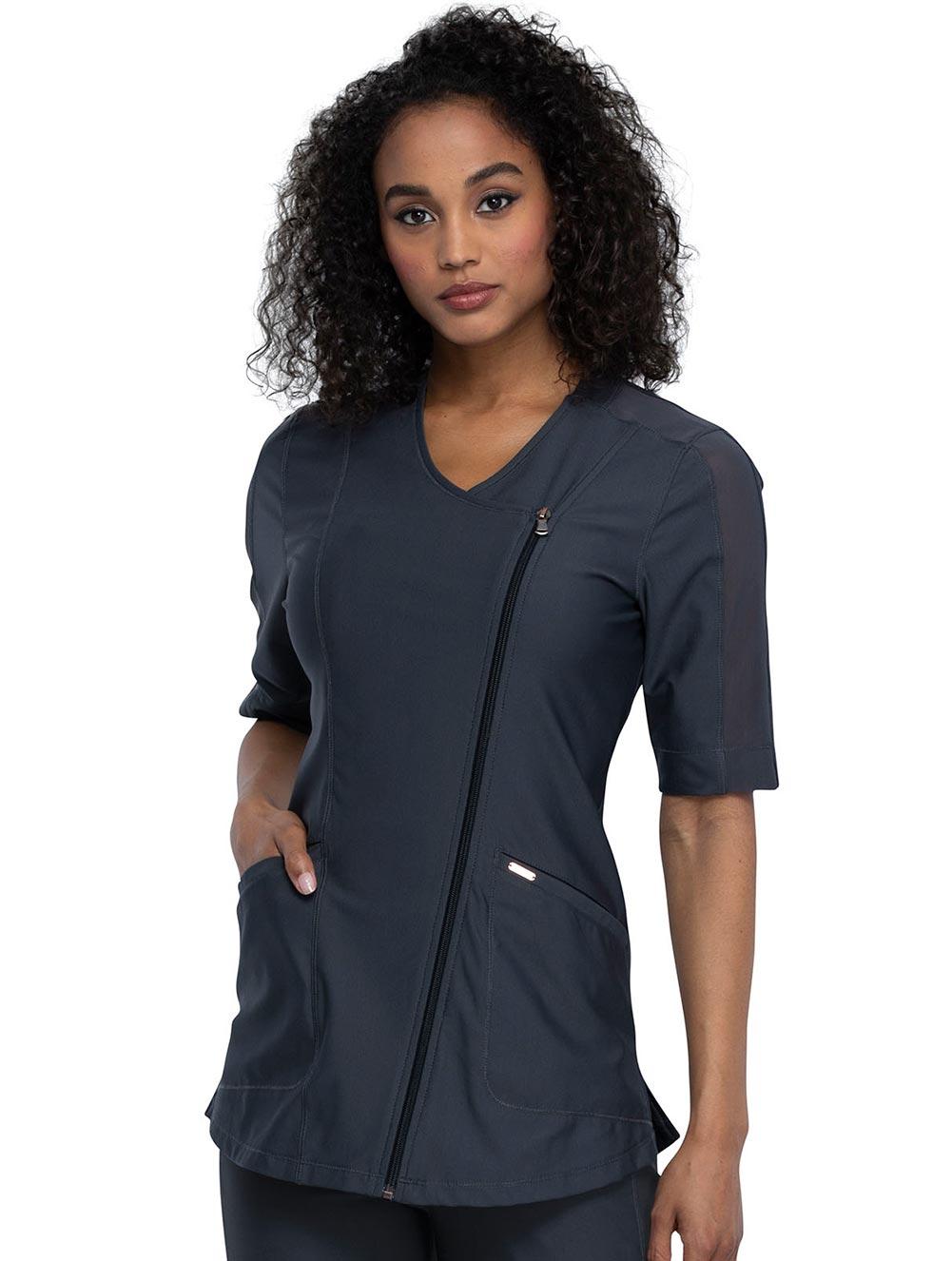Asymmetrical Zip Front Tunic