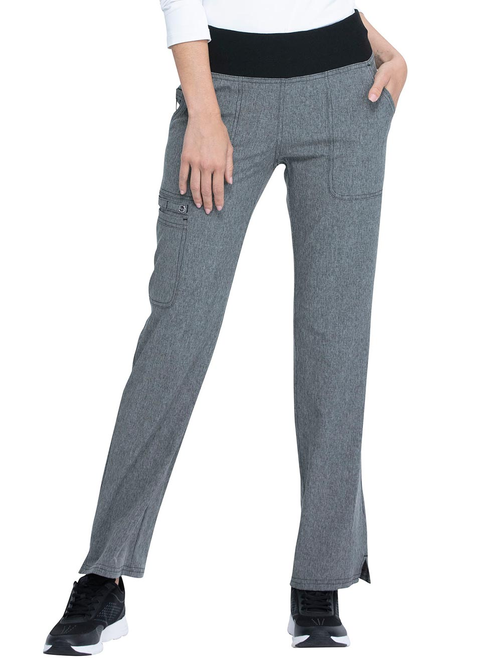 Mid Rise Straight Leg Pull-on Pant