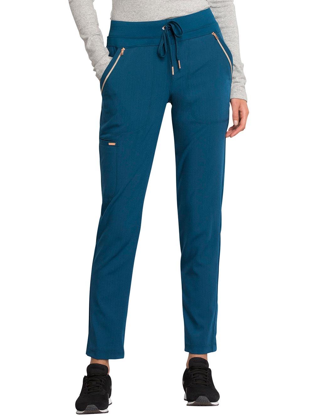 Mid Rise Straight Leg Drawstring Pants
