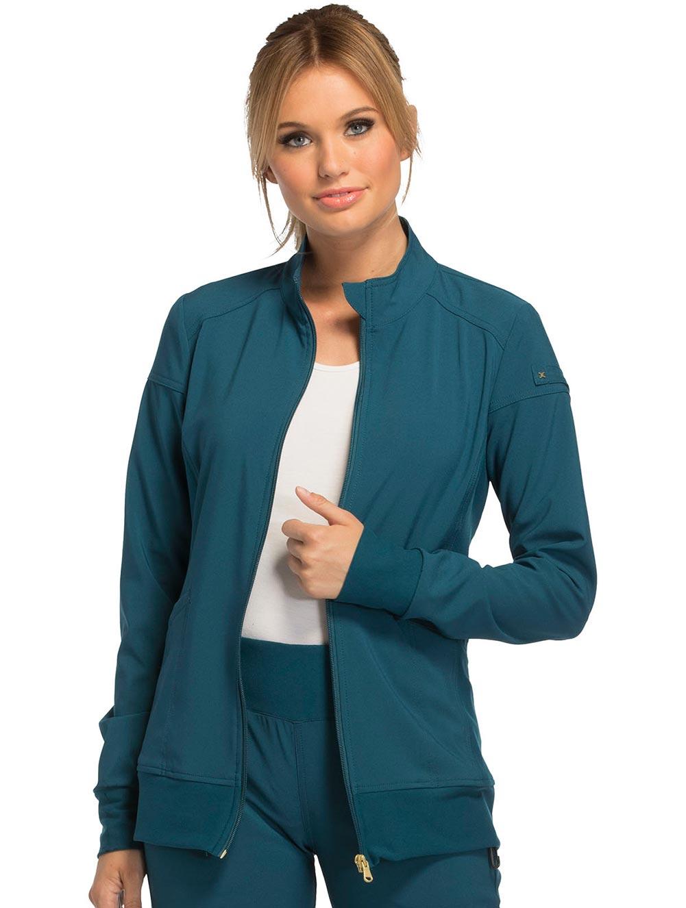 'iflex' Zip Front Warm-Up Jacket