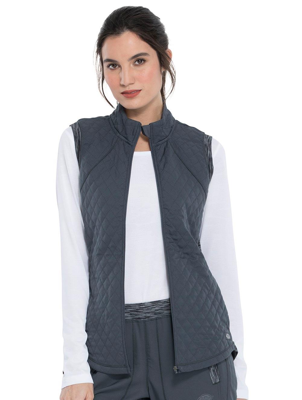 Quilted Zip Front Vest