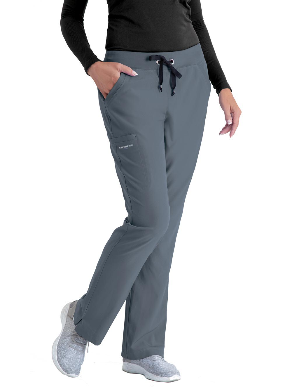 Women's 'Focus' 3 Pocket Knit Waist Cargo Scrub Pants