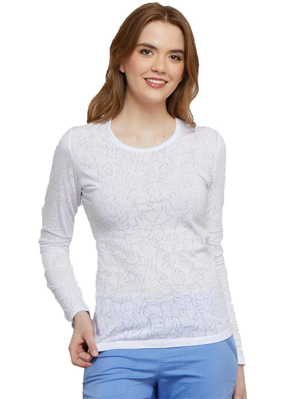 Long Sleeve Underscrub Knit Tee