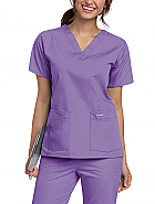Landau Women's V-Neck Tunic Scrub Top - 8219