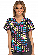 Flexibles V-Neck Print Top