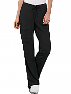 Half Elastic Half Drawstring Zipper Pocket Pant