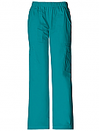 Mid-Rise Pull-On Cargo Pant
