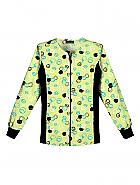 Flexibles Zip Front Knit Panel Warm-Up Jacket