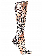 'Brown Leopard River' Fashion Compression Sock 8-15 mmHg