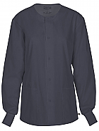 Unisex Snap Front Warm-up Jacket w/ Antimicrobial
