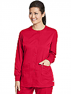 'Grey's Anatomy' Round Neck Scrub Jacket