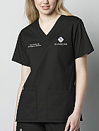WonderWORK V-Neck Top - Physician's Top w/ Personalization