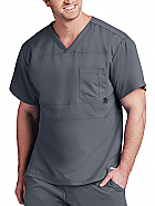 'Grey's Anatomy Active' Men's Panel Pieced V-Neck Top