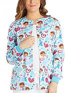 Snap Front Warm-Up Print Jacket