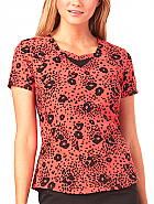 Sweetheart Neck Print Top