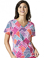 Nettie V-Neck Print Top