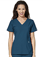Women's Stylized V-neck Top