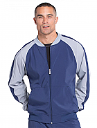 Men's Colorblock Zip Up Warm-Up Jacket