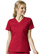 Women's 4 Pocket V-Neck Top