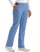 'Spandex Stretch' 5-Pocket Logo Waist Cargo Boot Leg Pant