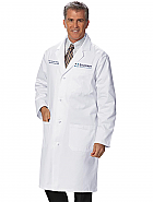 Men's Long-length Knot-Button Lab Coat