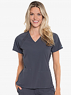 Peaches Raglan Scrub Top