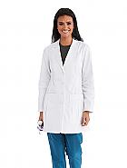 "'One Team' 34"" Large 2 Pocket Classic Fit Women's Lab Coat"