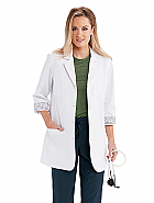 "'One Team' 30"" 3 Pocket 3 Quarter Sleeve Women's Lab Coat"