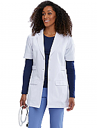 "'One Team' 31"" 2 Pocket 3-Button Short Sleeve Women's Lab Coat"