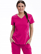 'Spandex Stretch' Zoe 3 Pocket V-Neck Scrub Top