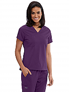'Spandex Stretch' Bree V-Neck Tuck-In Scrub Top